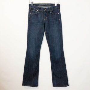 COH Dita Mid-Rise Petite Boot Dark Wash Jeans 25